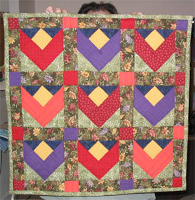 tulip quilt in autumn colors
